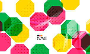 Bright colorful textured geometric shapes isolated on white - modern design templateのイラスト素材 [FYI03093533]