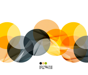 Bright yellow and dark textured geometric shapes isolated on white - modern design templateのイラスト素材 [FYI03093534]