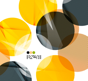 Bright yellow and dark textured geometric shapes isolated on white - modern design templateのイラスト素材 [FYI03093536]