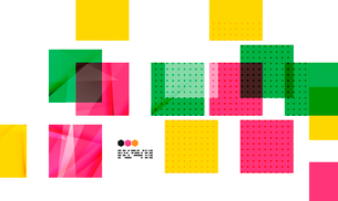 Bright colorful textured geometric shapes isolated on white - modern design templateのイラスト素材 [FYI03093542]