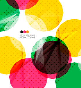 Bright colorful textured geometric shapes isolated on white - modern design templateのイラスト素材 [FYI03093544]
