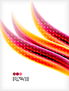 Smooth colorful business elegant wave design. Hi-tech modern abstractionのイラスト素材 [FYI03093815]