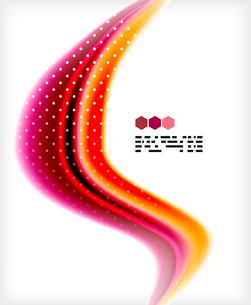 Smooth colorful business elegant wave design. Hi-tech modern abstractionのイラスト素材 [FYI03093822]