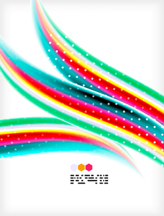 Smooth colorful business elegant wave design. Hi-tech modern abstractionのイラスト素材 [FYI03093828]