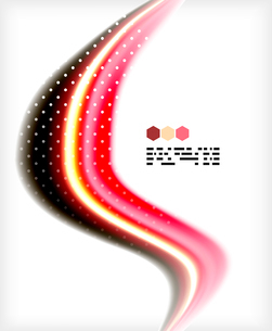 Smooth colorful business elegant wave design. Hi-tech modern abstractionのイラスト素材 [FYI03093836]