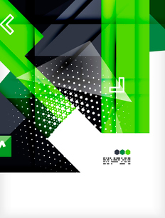 Hi-tech modern design template - futuristic modern straight geometric lines and shapes in glossy 3dのイラスト素材 [FYI03093872]