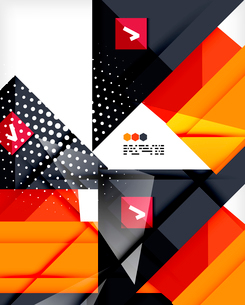 Hi-tech modern design template - futuristic modern straight geometric lines and shapes in glossy 3dのイラスト素材 [FYI03093875]