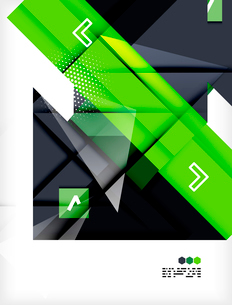 Hi-tech modern design template - futuristic modern straight geometric lines and shapes in glossy 3dのイラスト素材 [FYI03093876]