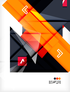 Hi-tech modern design template - futuristic modern straight geometric lines and shapes in glossy 3dのイラスト素材 [FYI03093881]