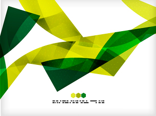 Bright colorful business flowing shapes design template. Futuristic wavesのイラスト素材 [FYI03093893]