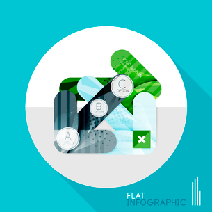 Modern geometric infographic in trendy flat style. Business abstract layout collectionのイラスト素材 [FYI03096033]