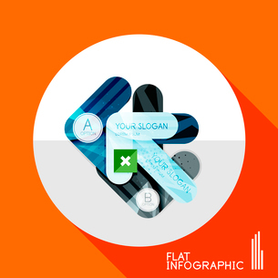 Modern geometric infographic in trendy flat style. Business abstract layout collectionのイラスト素材 [FYI03096034]