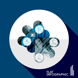 Modern geometric infographic in trendy flat style. Business abstract layout collectionのイラスト素材 [FYI03096038]