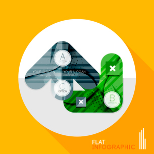 Modern geometric infographic in trendy flat style. Business abstract layout collectionのイラスト素材 [FYI03096040]