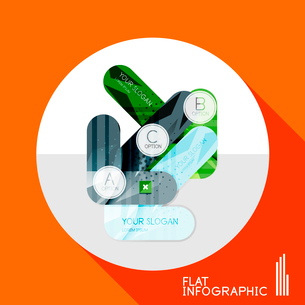 Modern geometric infographic in trendy flat style. Business abstract layout collectionのイラスト素材 [FYI03096041]