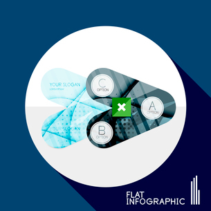 Modern geometric infographic in trendy flat style. Business abstract layout collectionのイラスト素材 [FYI03096043]