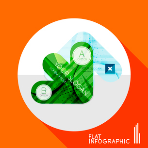 Modern geometric infographic in trendy flat style. Business abstract layout collectionのイラスト素材 [FYI03096044]