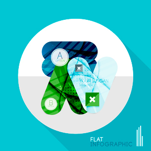 Modern geometric infographic in trendy flat style. Business abstract layout collectionのイラスト素材 [FYI03096048]