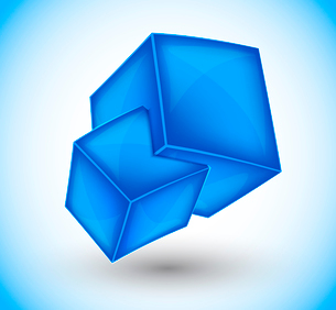 3d blue cubes. Abstract illustrationのイラスト素材 [FYI03096249]