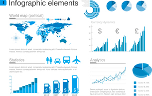 Infographics design template.Graph, diagram, charts design elements.のイラスト素材 [FYI03096285]