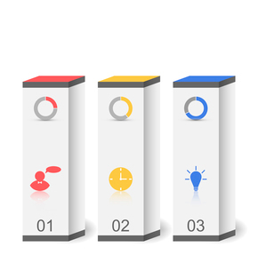 Illustration modern boxes in minimal style for design infographic template or website layout - vectoのイラスト素材 [FYI03096326]
