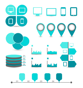 Illustration infographic design elements ideal to display for your information - vectorのイラスト素材 [FYI03096346]