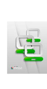 Vector file program modern 3d paper designのイラスト素材 [FYI03096380]