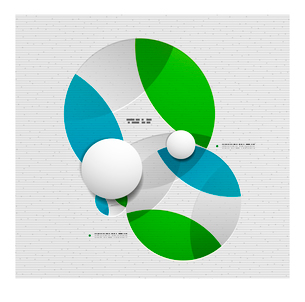 Abstract 3d paper empty circles template  vector illustrationのイラスト素材 [FYI03096387]