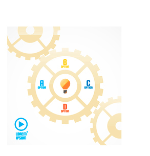 Modern cogwheel presentation templateのイラスト素材 [FYI03096399]