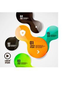 Modern minimal circles infographicsのイラスト素材 [FYI03096420]