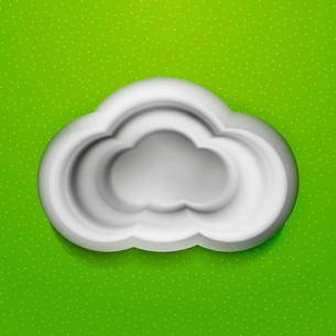 3d white cloudsのイラスト素材 [FYI03096427]
