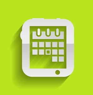 Calendar icon modern flat designのイラスト素材 [FYI03096440]