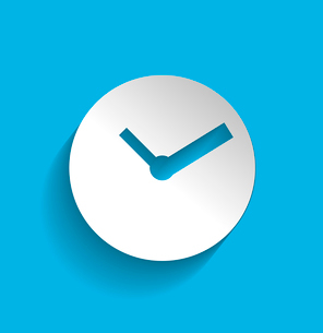 Time clock icon modern flat designのイラスト素材 [FYI03096524]
