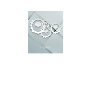 Vector paper gear modern designのイラスト素材 [FYI03096543]