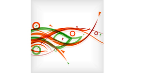 Modern abstract lines minimal backgroundのイラスト素材 [FYI03096547]