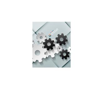 Vector paper gear modern designのイラスト素材 [FYI03096550]