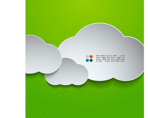 3d white cloudsのイラスト素材 [FYI03096584]