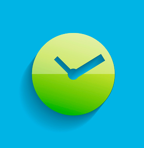Time clock icon modern flat designのイラスト素材 [FYI03096600]