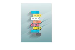 Skyscraper 3d paper designのイラスト素材 [FYI03096612]