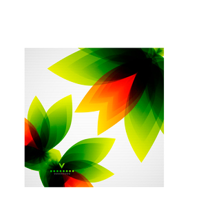 Colorful abstract flowers vector templateのイラスト素材 [FYI03096639]