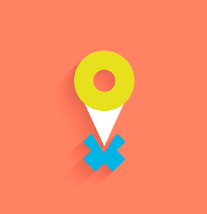 Vector navigation icon modern flat designのイラスト素材 [FYI03096654]