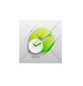 Vector time paper modern clock designのイラスト素材 [FYI03096659]