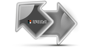 3d vector glossy arrow technology conceptのイラスト素材 [FYI03096693]