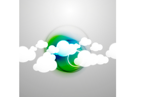 Vector clouds technology designのイラスト素材 [FYI03096742]