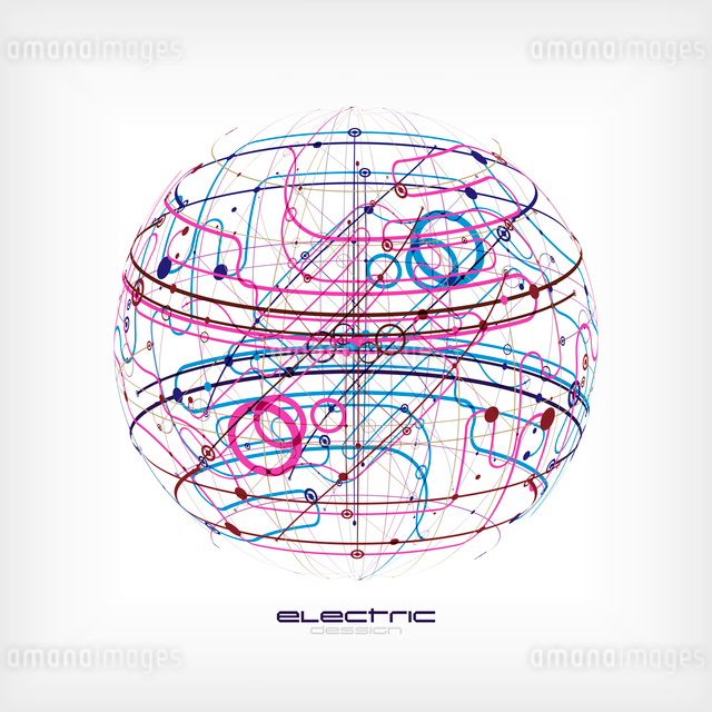 Sphere circuitのイラスト素材 [FYI03096744]