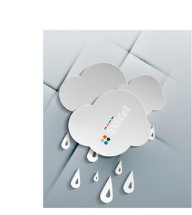 Vector water drops paper modern designのイラスト素材 [FYI03096756]