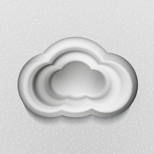 3d white cloudsのイラスト素材 [FYI03096771]