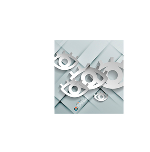 Vector paper eyes modern designのイラスト素材 [FYI03096773]
