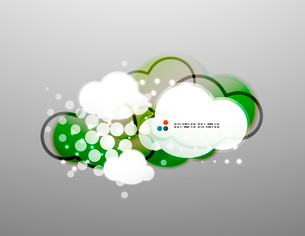 Vector clouds technology designのイラスト素材 [FYI03096775]