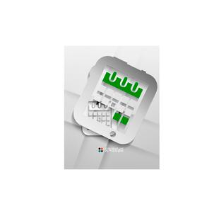 Vector calendar / organizer paper designのイラスト素材 [FYI03096776]